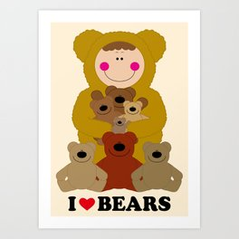 I♥BEARS Art Print