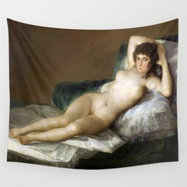 Maja Desnuda (The Nude Maja) by Francisco Goya Wall Tapestry