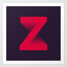 "The "" FADE "" Series - Z Art Print"
