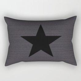 Black Star Rectangular Pillow