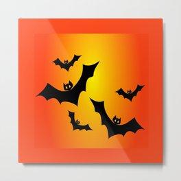 Bat Sun Bath Metal Print