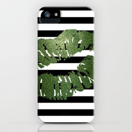 Stripes and Earth Kiss iPhone Case