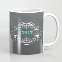 italy Mugs featuring Italy by My Little Thought Bubbles