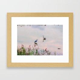 The Lake at Dusk Framed Art Print