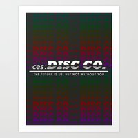 ces: DISC CO Logo Art Print