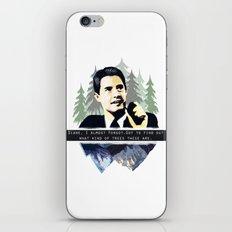 Agent Coop iPhone & iPod Skin