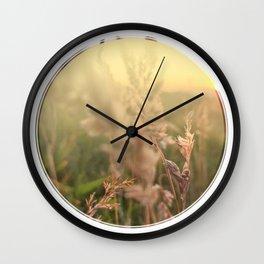 Peel sunset lll - circle graphic Wall Clock