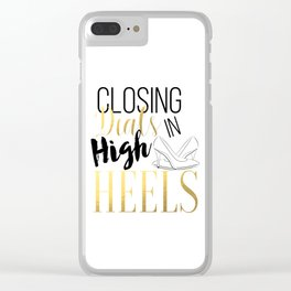 Closing Deals In High Heels,Fashion Print Clear iPhone Case