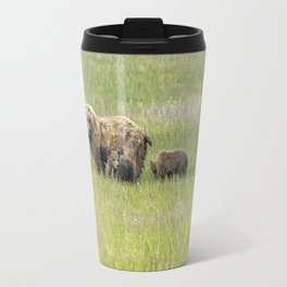 Mother Brown Bear With Her Two Cubs, No. 1 Travel Mug