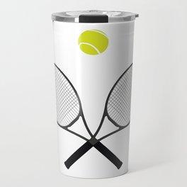Tennis Racket And Ball 2 Travel Mug