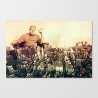 sopranos Canvas Prints featuring The Sopranos by PIXERS