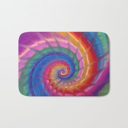 Spring into action with colour spirals Bath Mat