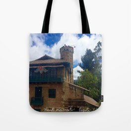Mount Monserrate at Christmastime Maybe, Bogota, Colombia Tote Bag