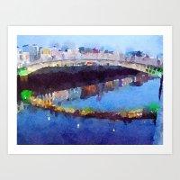 Ha'penny Bridge, Dublin #1 Art Print