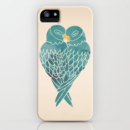 Love Birds (Blue) iPhone Case