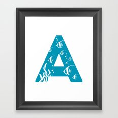 A is for Angelfish - Animal Alphabet Series Framed Art Print