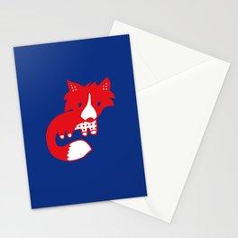 Midnight fox cub Stationery Cards