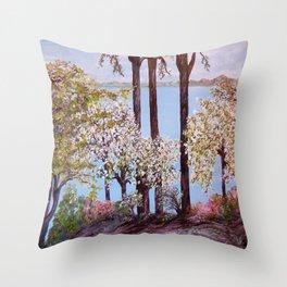 Savannah in Spring Throw Pillow