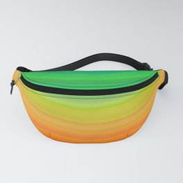 Rainbow Smile Colored Circles Summer Pattern Fanny Pack