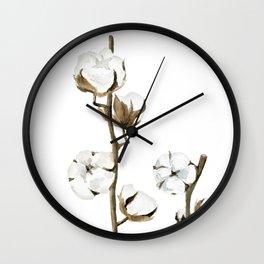 Cotton flowers Wall Clock