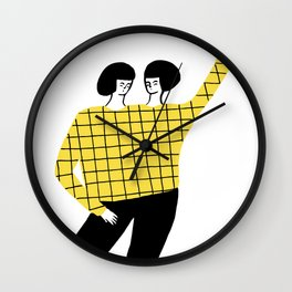 Dancing with myself Wall Clock