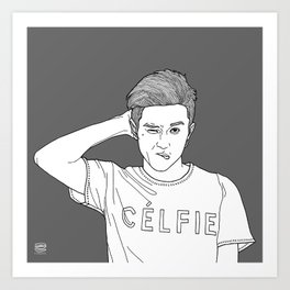Line Illustration #celfie Art Print