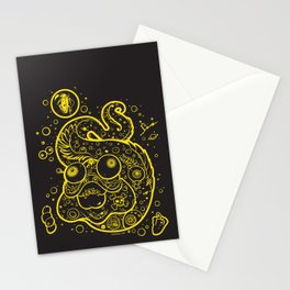 The Golden Eel (in yellow gold) Stationery Cards