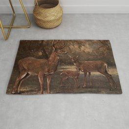 Vintage Virginia Deer Painting (1909) Rug