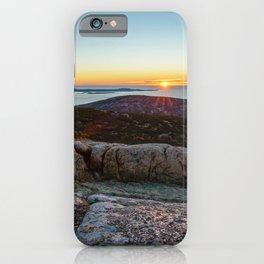ACADIA NATIONAL PARK MOUNTAIN SUNRISE MAINE OCEAN LANDSCAPE iPhone Case