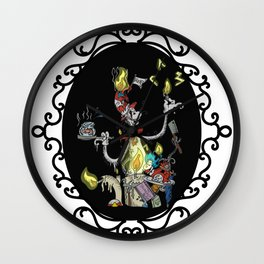 Cat in the Madness Hat Wall Clock