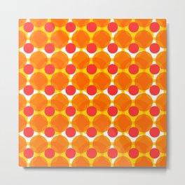 Circular Peach Pattern Metal Print