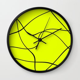 """Abstract lines"" - Black on green Wall Clock"