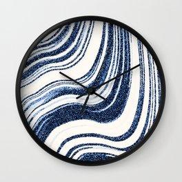 Textured Marble - Indigo Blue Wall Clock