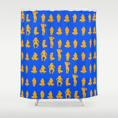 Dip & Come Up - Sand & Sea Shower Curtain