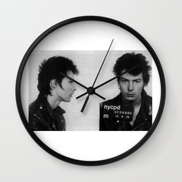 Sid Vicious Mugshot Wall Clock