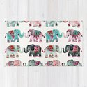 Elephant Collection – Turquoise & Coral Palette by catcoq