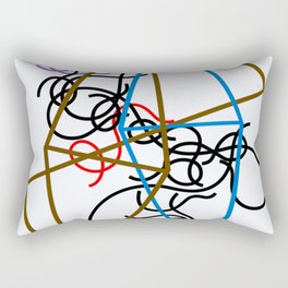Sophie Taeuber-Arp - Octahedron-ss - Digital Remastered Edition Rectangular Pillow