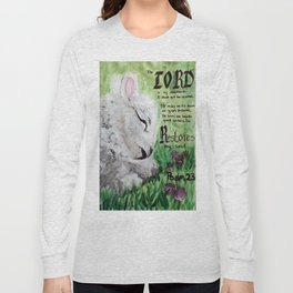 The Lord Restores Psalm 23 Long Sleeve T-shirt