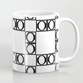 angle black & white Coffee Mug