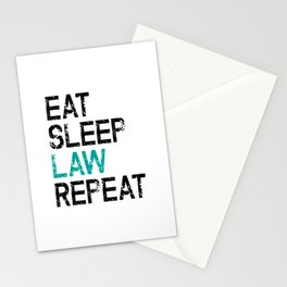 Eat Sleep Law Repeat Lawyer Judge Jurist Stationery Cards
