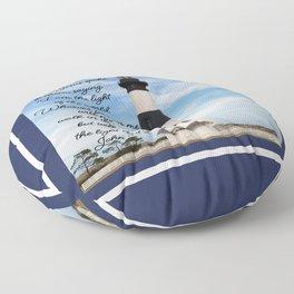 Bodie Island Lighthouse-North Carolina -With John 8:12 Floor Pillow