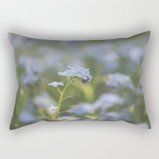 Forget-me-not meadow Spring Flower Flowers Floral on #Society6 Rectangular Pillow