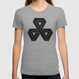 mobius triple strip - black T-shirt