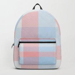 Sky blue Plaid Tartan Checkered Pattern Backpack