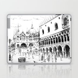 Sketch of San Marco Square in Venice Laptop & iPad Skin
