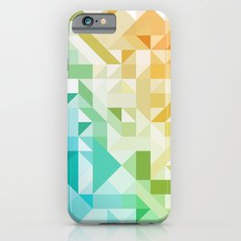 Colorful Geometric Pattern Saturated Rainbow Pattern Design (Red Pink Orange Yellow Green Blue) iPhone Case