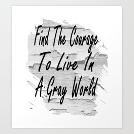 Gray World Art Print