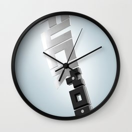 Words can hurt - cleaver Wall Clock