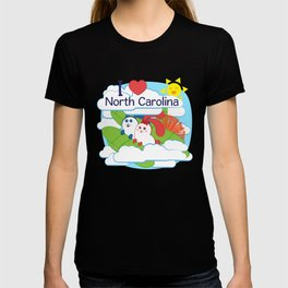 Ernest and Coraline | I love North Carolina T-shirt