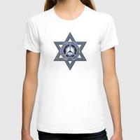 israel T-shirts featuring Israel Peace Symbol - 032 by Lazy Bones Studios
